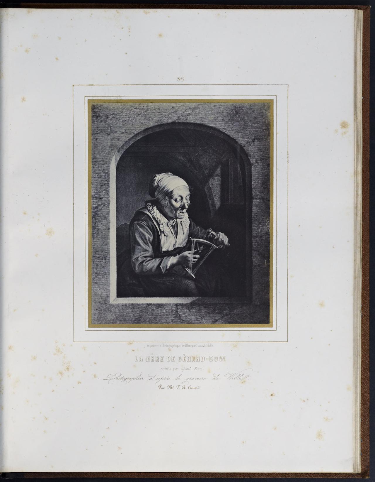"""Louis Désiré Blanquart-Evrard, """"La Mère de Gérard-Dow"""" from """"Album photographique de l'artiste et de l'amateur"""" (1851)"""