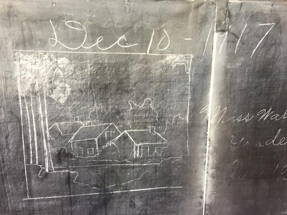 December 10, 1917 date on the chalkboards (courtesy Oklahoma City Public Schools)