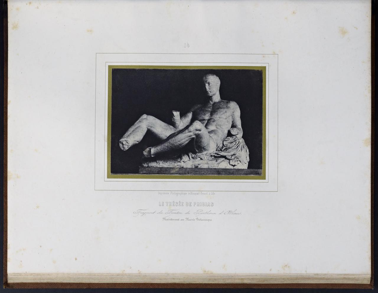 """Louis Désiré Blanquart-Evrard, """"Le Thésée de Phidias"""" from """"Album photographique de l'artiste et de l'amateur"""" (1851)"""