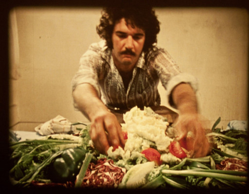 "Ed Ruscha, ""Premium"" (1971), 16 mm, 24 min. (via getty.edu)"