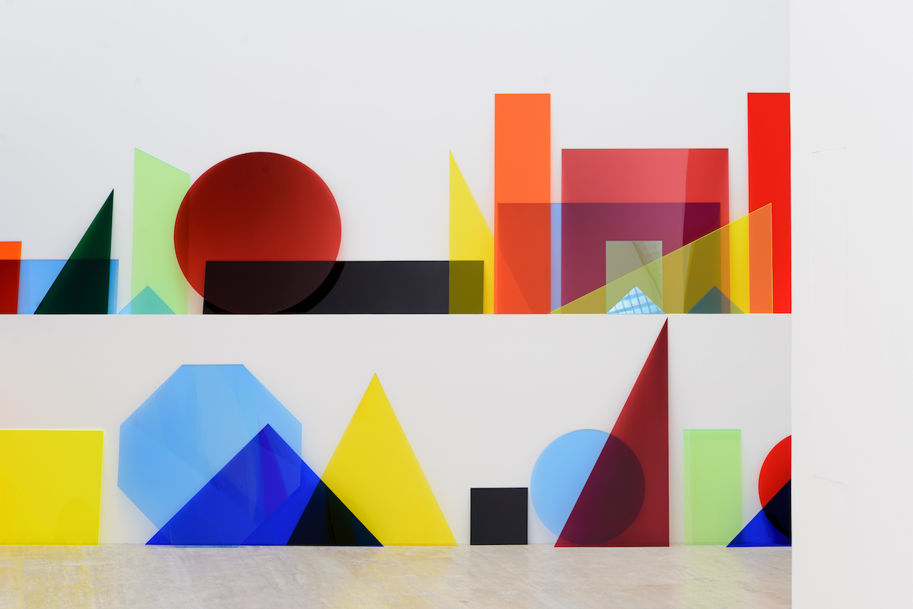"""Installation view of Amalia Pica, """"A ∩ B ∩ C"""" (2013) in 'Under the Same Sun: Art from Latin America Today' at the Museo Jumex, Mexico City (courtesy Solomon R. Guggenheim Museum, New York, and Museo Jumex, Mexico City)"""