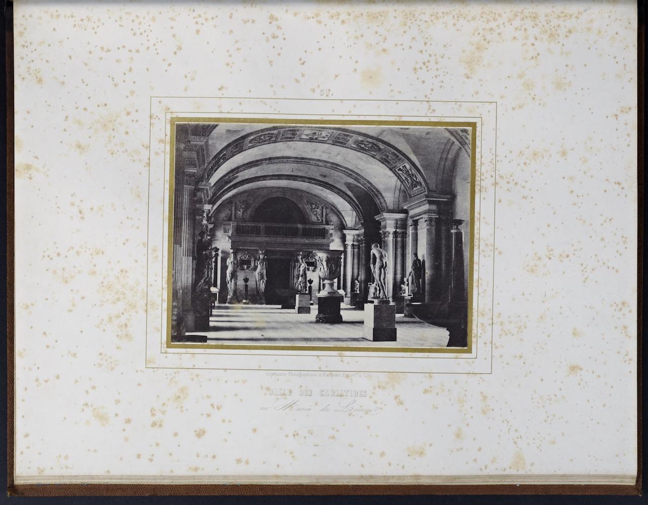 """Louis Désiré Blanquart-Evrard, """"Salle des Cariatides au Musée du Louvre"""" from """"Album photographique de l'artiste et de l'amateur"""" (1851)"""