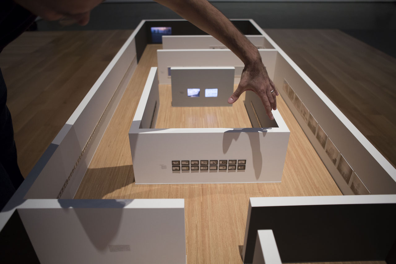 """Walid Raad, """"Scratching on things I could disavow: Walkthrough"""" (2015), part of 'Walid Raad' at the Museum of Modern Art through January 31 (© 2015 The Museum of Modern Art, New York; photo by Julieta Cervantes)"""