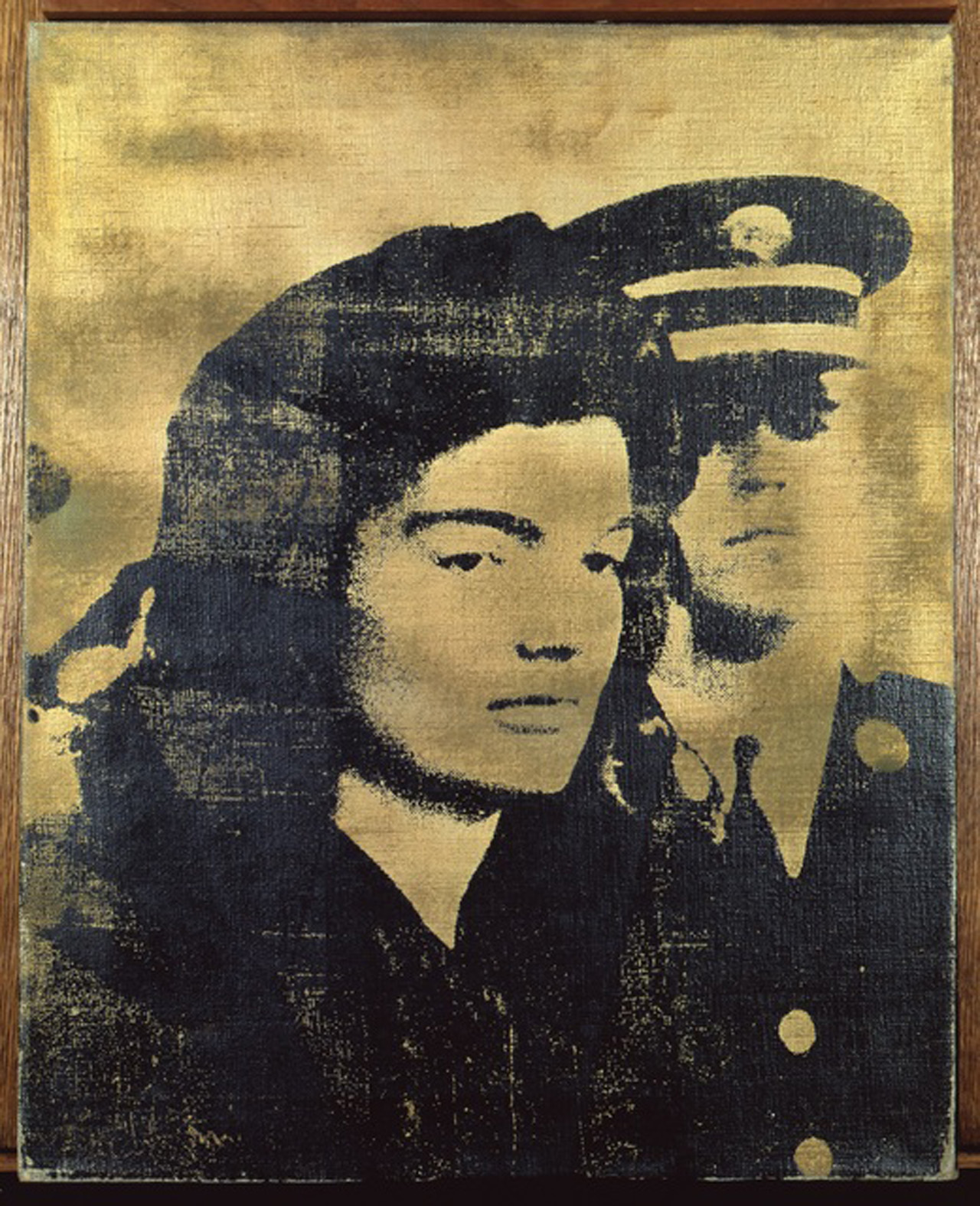 """Andy Warhol, """"Jackie (Gold)"""" (1964), silkscreen ink on canvas, 20 by 16 in. (© The Sonnabend Collection, on loan from Antonio Homem © The Andy Warhol Foundation for the Visual Arts, Inc. / ADAGP, Paris 2015)"""