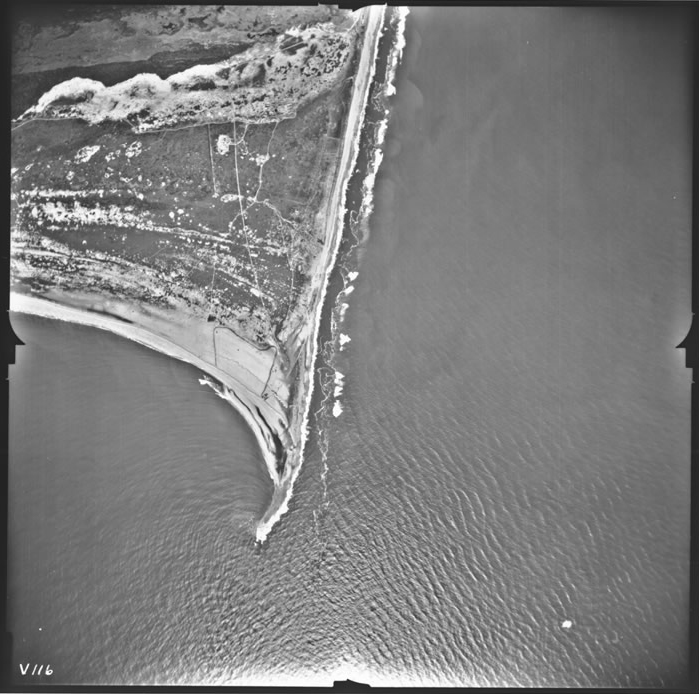 Aerial photograph of Cape Hatteras, North Carolina (via Records of the Defense Intelligence Agency/National Archives)