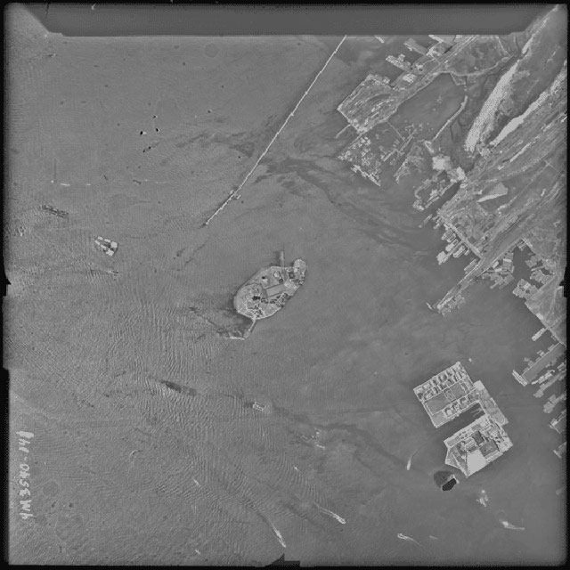 Aerial photograph of the Statue of Liberty (8/19/1944) (via Records of the Defense Intelligence Agency/National Archives)