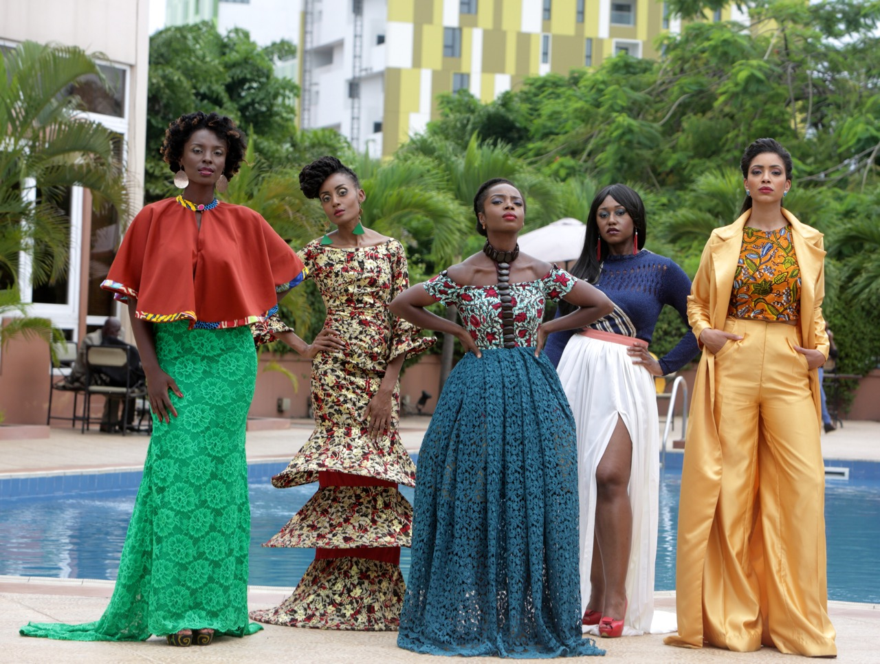 An African City ensemble cast. All photos courtesy of Maame Adjei co-producer of the series.