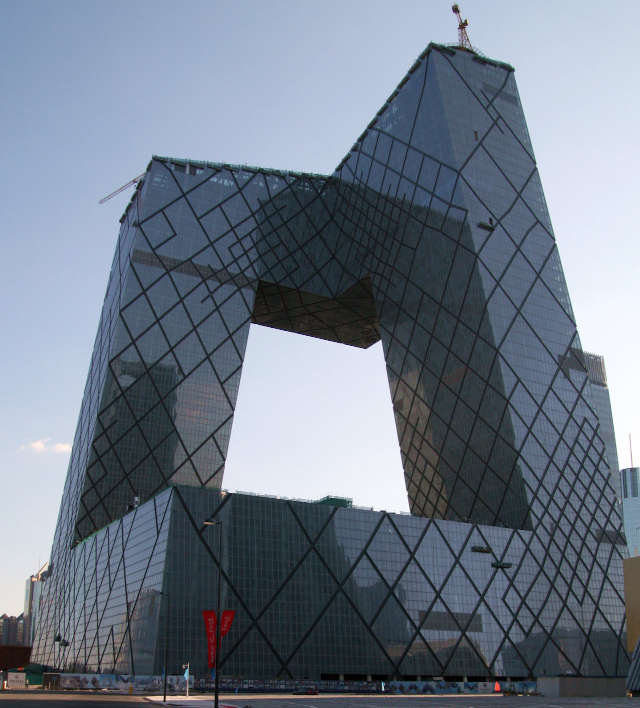 CCTV Headquarters built by Rem Koolhaas and Ole Scheeren (image via Wikipedia)