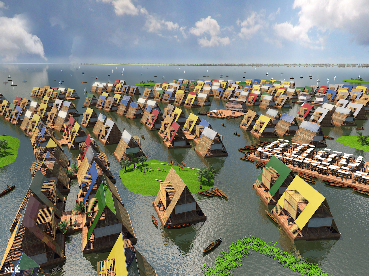 Design for water communities, Lagos, Nigeria by NLÉ (c) NLÉ