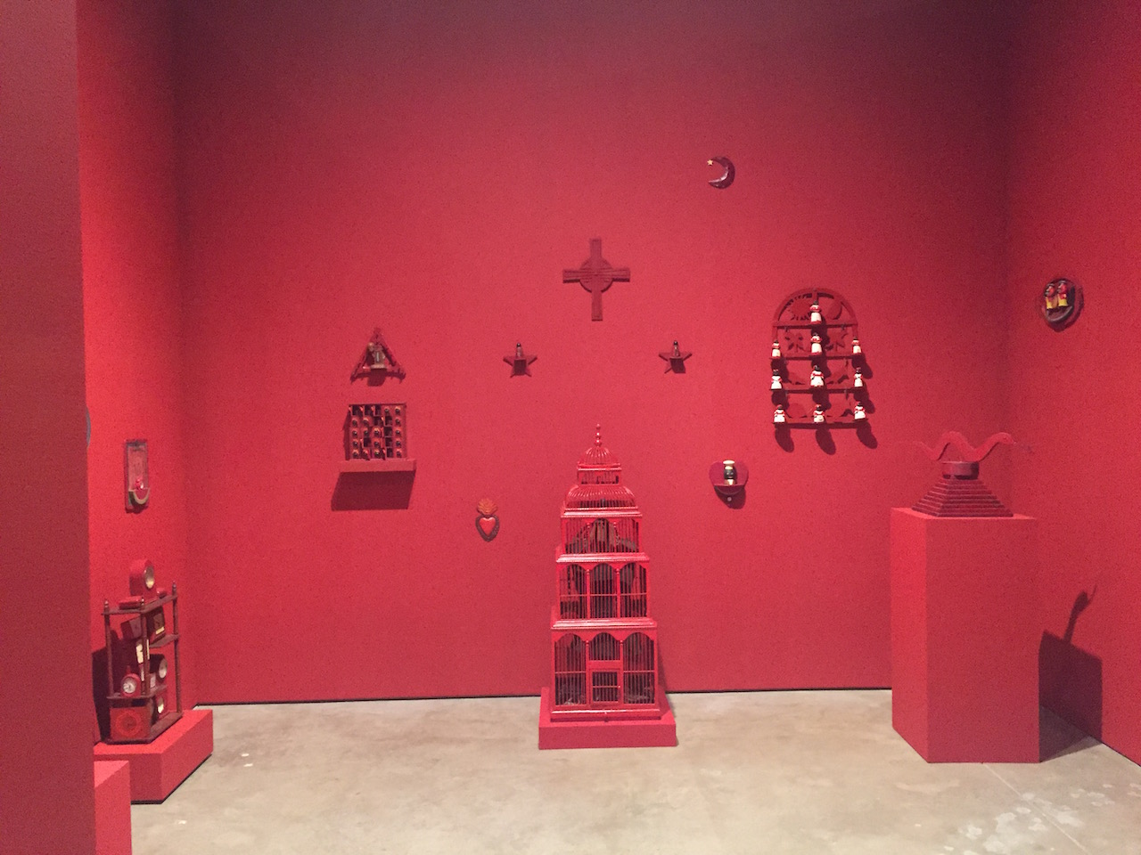 Installation view, 'Betye Saar: Still Tickin'' at the Scottsdale Museum of Contemporary Art (all photos by the author for Hyperallergic unless otherwise noted)