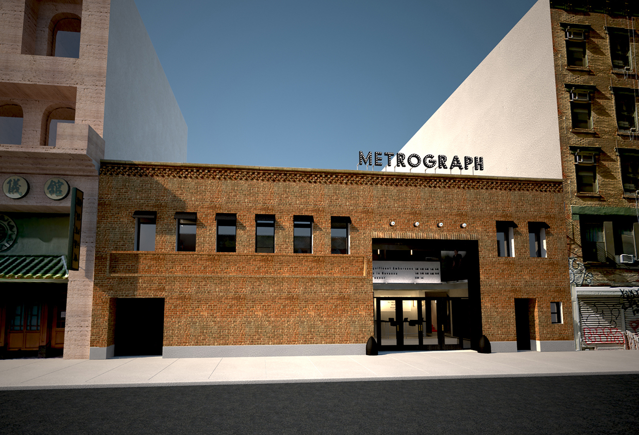 The façade of Metrograph (all images courtesy Metrograph LLC)