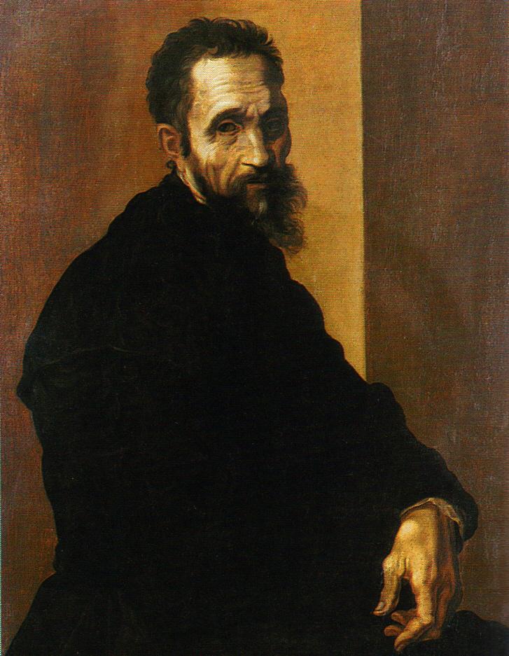 """Jacopino del Conte, """"Michelangelo Buonarroti"""" (ca. 1535) (Casa Buonarroti Museum, Florence; Creative Commons, PD-Art [PD-old-100], via Wikimedia Commons)"""