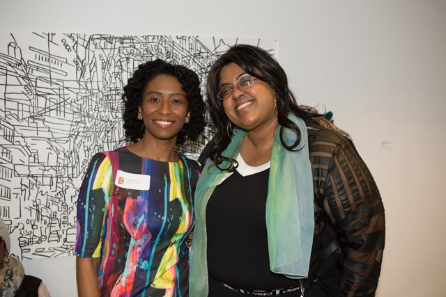 Stephanie Cunningham (left), and Monica Montgomery of Museum Hue in February 2015. All photos by Monica Montgomery