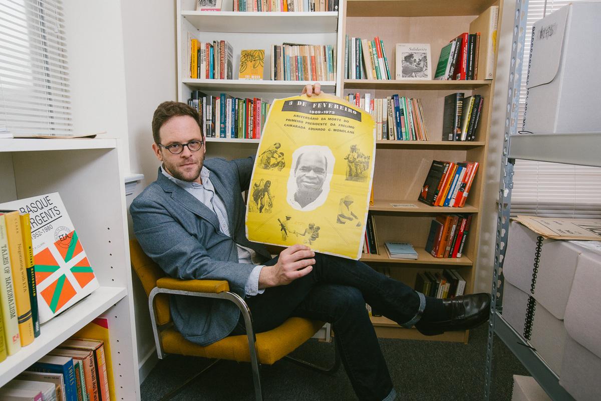 Bradley Duncan in his home archive (all photos courtesy Paul Gargagliano)