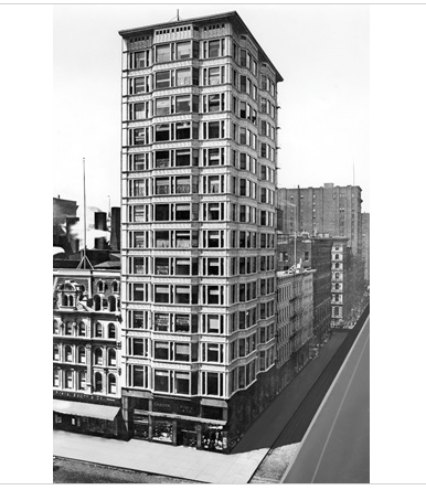 Post Chicago fire, high rise - Reliance Building by Atwood, Burnham & Co, North State Street, Chicago 1890-95 (c) RIBA Collections