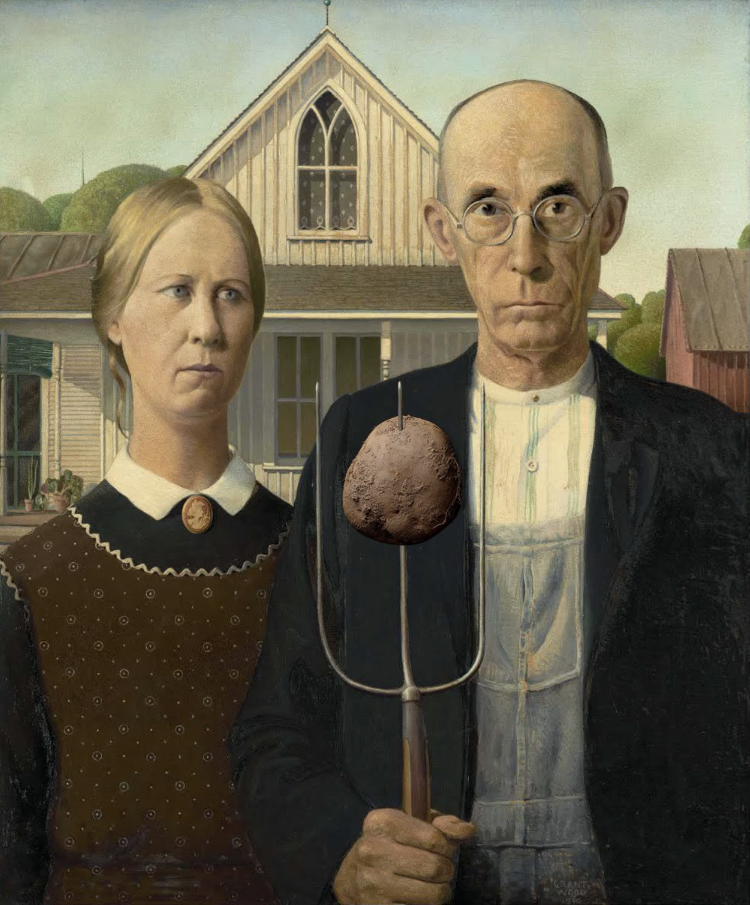 American Gothic with Potato (via @NycAnarchy)