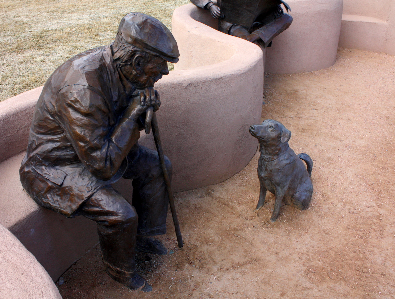 "Detail of Glenna Goodacre's ""Park Place"" featuring the stolen bronze dog (photo by PatrickRohe/Flickr)"
