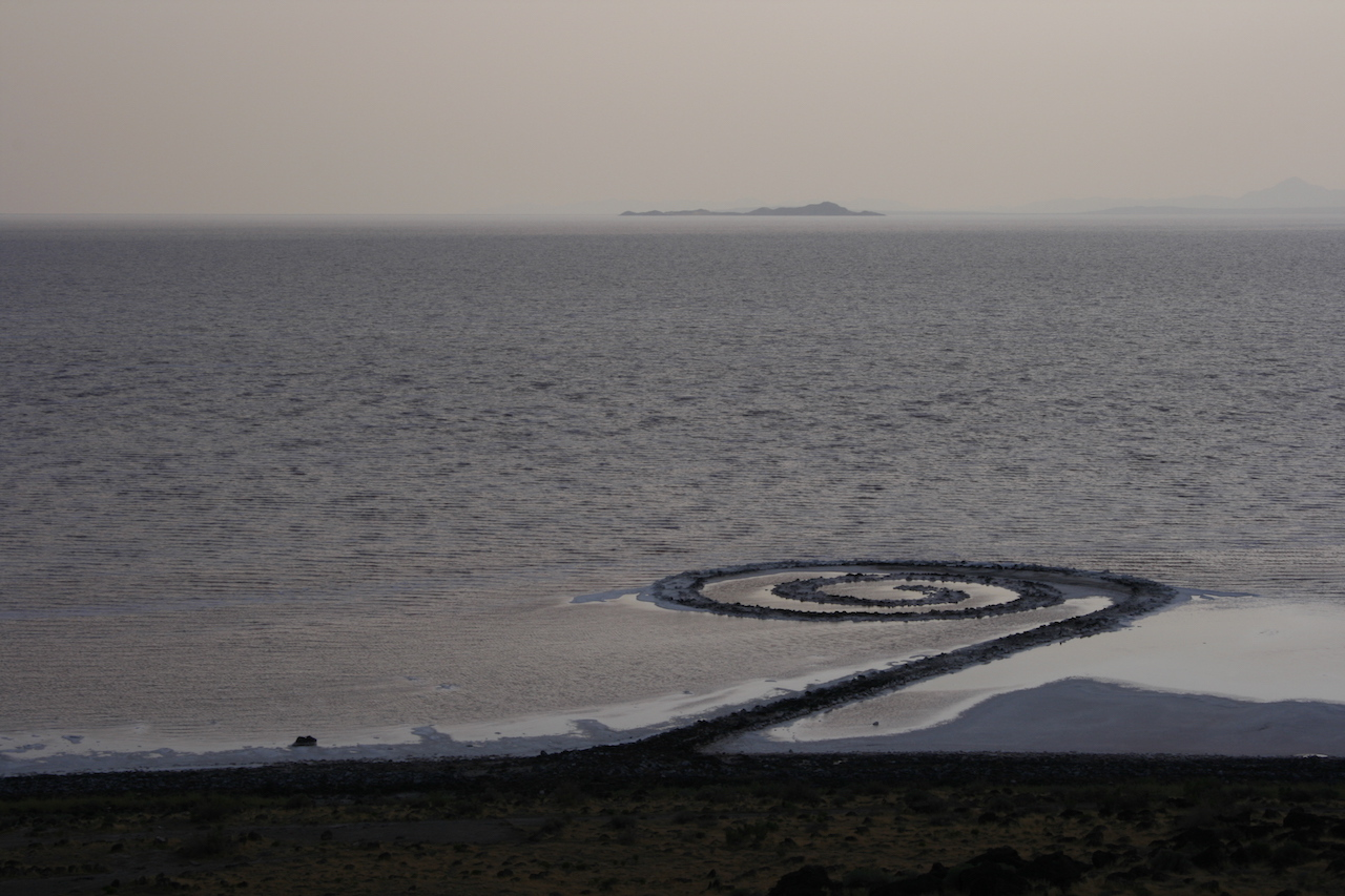 """Robert Smithson's """"Spiral Jetty"""" (1970) may become Utah's official state work of art. (photo by David O. Stevens/Flickr)"""