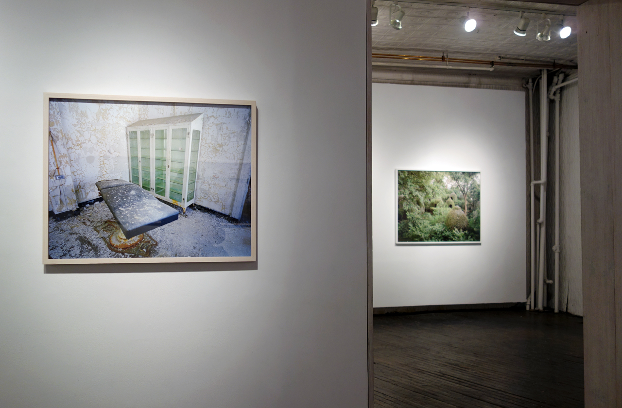 Installation view of 'Beyond Ruin Porn' at Front Room Gallery (photo by the author for Hyperallergic)