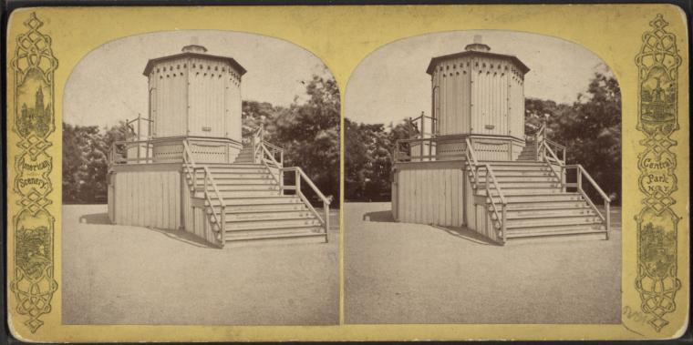 A 19th-century camera obscura in New York city's Central Park (via New York Public Library)