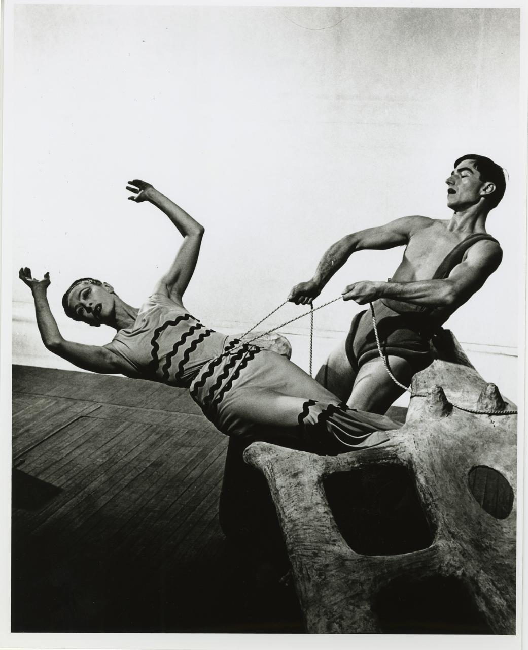 Martha Graham and Erick Hawkins in 'Night Journey' (courtesy Martha Graham Center of Contemporary Dance)