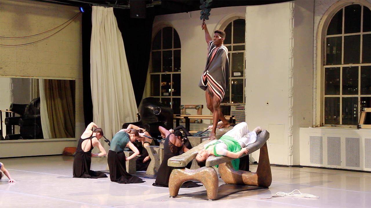 Rehearsal of 'Night Journey' by the Martha Graham Dance Company (photo by Brigid Pierce)