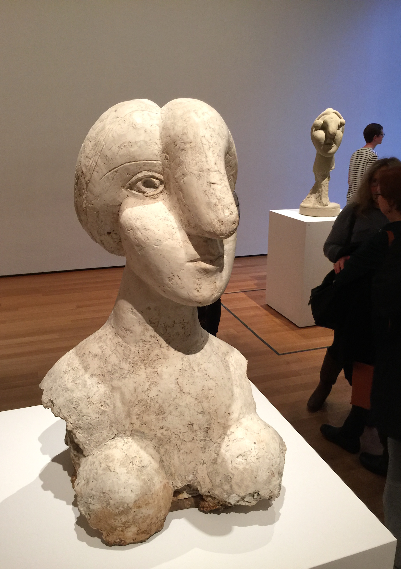 """Pablo Picasso's """"Bust of a Woman"""" (1931) is the subject of an ongoing lawsuit. (photo by Hrag Vartanian for Hyperallergic)"""
