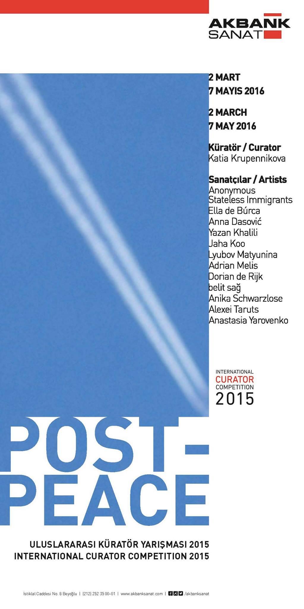 The flyer for 'Post-Peace' (via Katia Krupennikova/Facebook)
