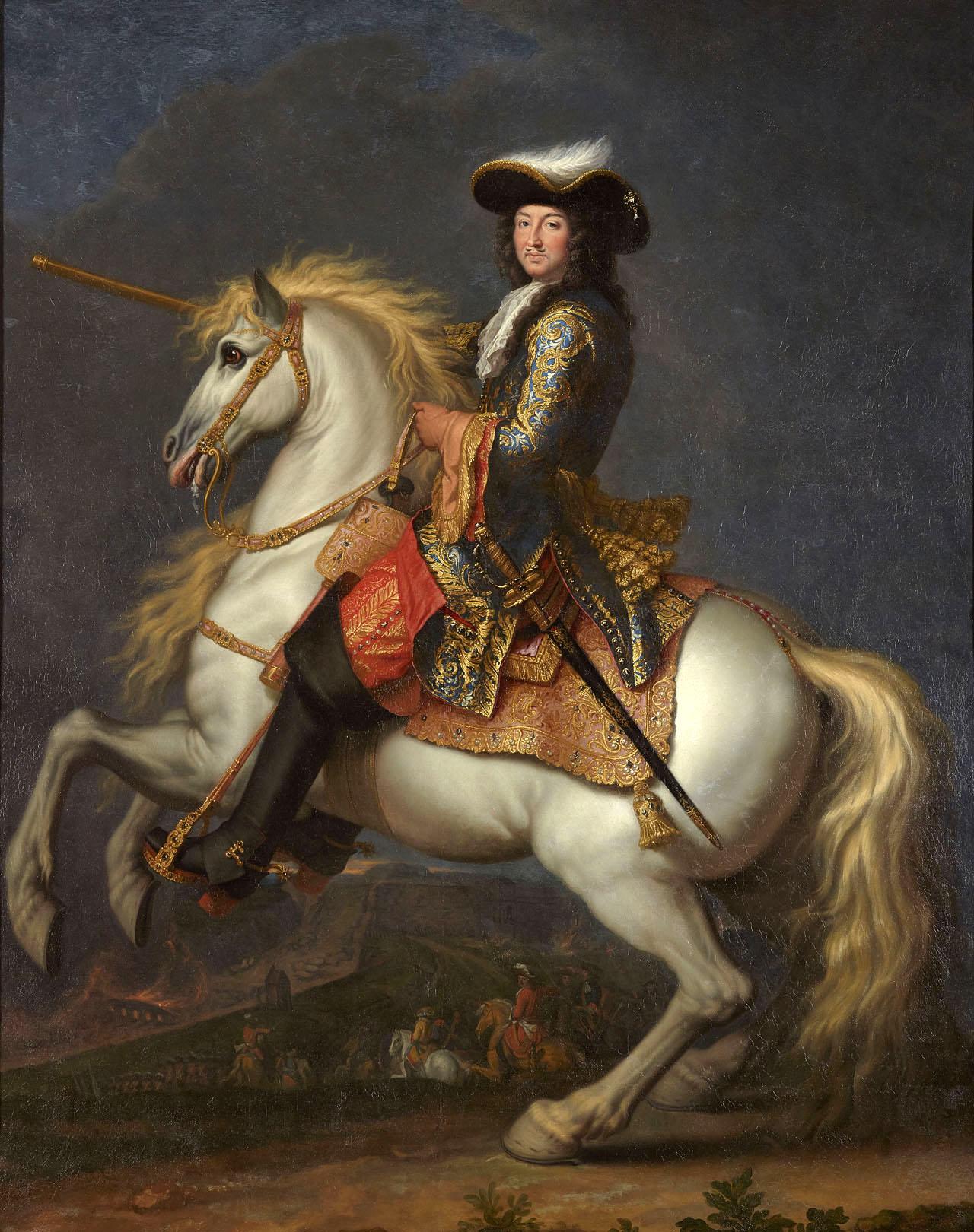 """René-Antoine Houasse, """"Equestrian Portrait of Louis XIV"""" (ca. 1675) (Château de Versailles, © Chateau de Versailles [dist-RMN-Grand Palais], photo by Christophe Fouin)"""