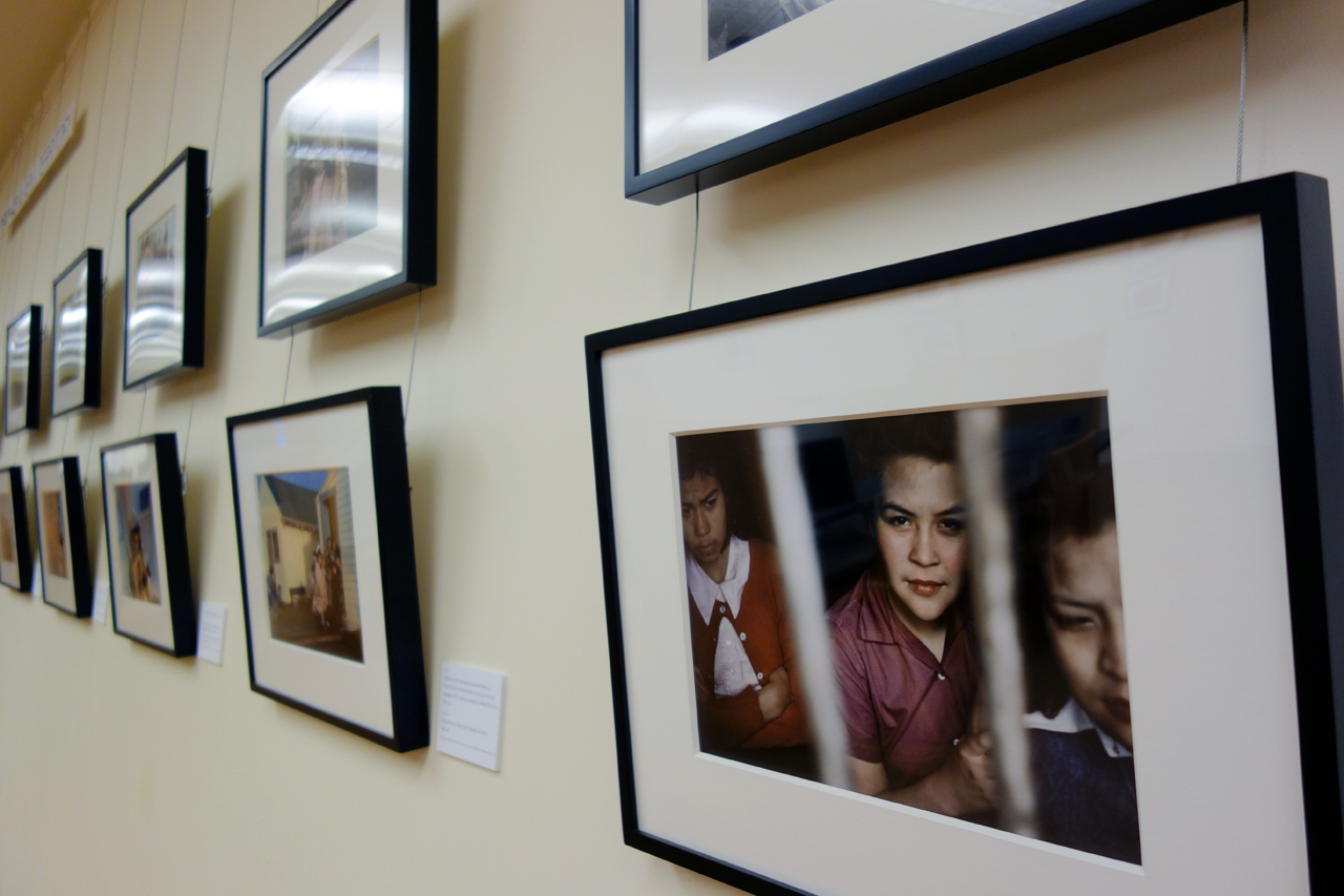 Installation view of 'Ruth Gruber, Photojournalist' at Brooklyn College Library (photo by the author for Hyperallergic)