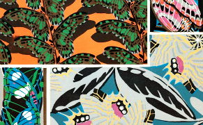 Post image for Art Deco Patterns of Beetles and Butterflies