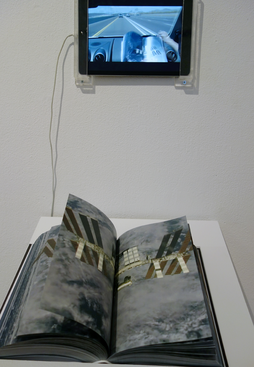 Installation view of 'Setting Out' at apexart