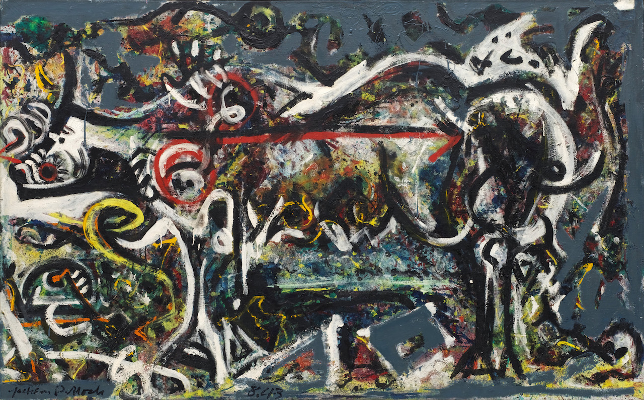 "Jackson Pollock, ""The She-Wolf"" (1943) (image courtesy of MoMA, © 2016 Pollock-Krasner Foundation / Artists Rights Society, New York)"