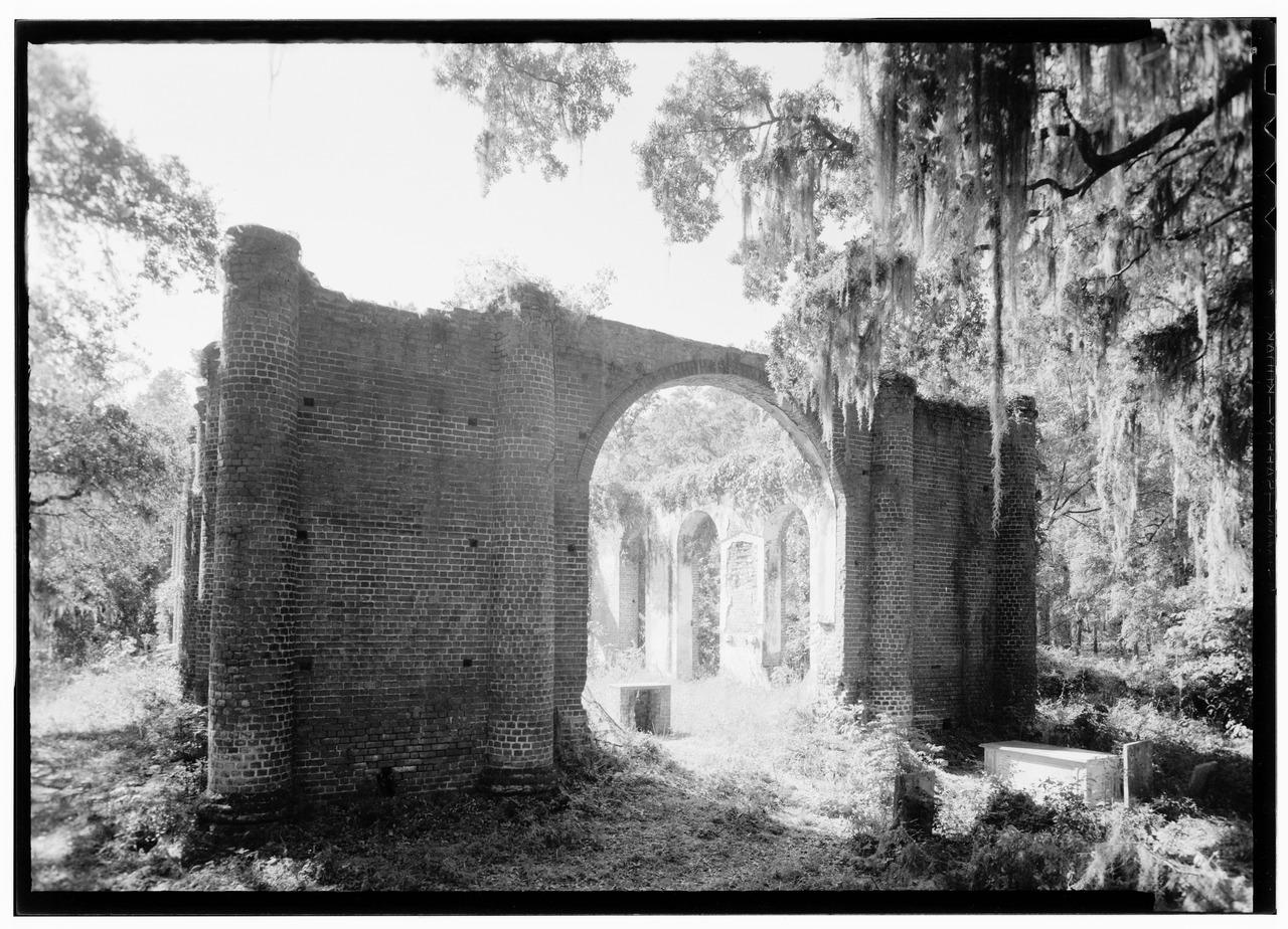 Sheldon Church (after 1933) (via Historic American Buildings Survey)