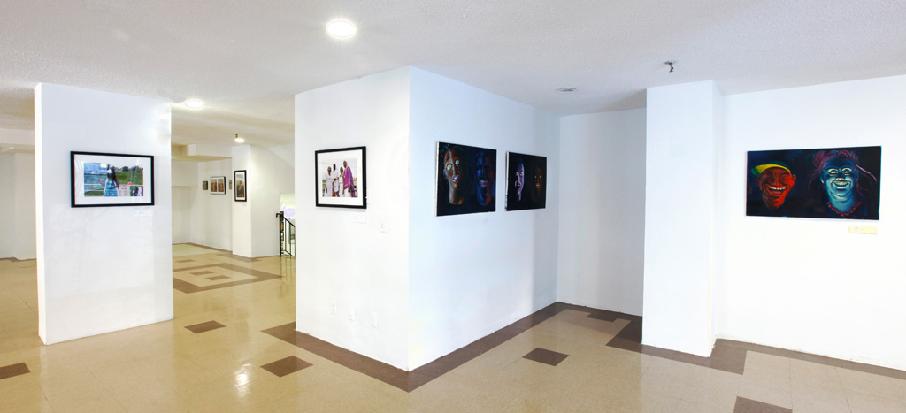 Installation view of 'Coney Island' at the Valentine Museum of Art at the Philip Howard Apartments (photo courtesy the Valentine Museum of Art)