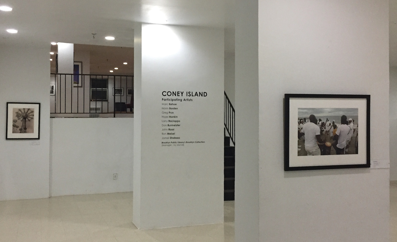 Installation view of 'Coney Island' at the Valentine Museum of Art at the Philip Howard Apartments (photo by the author for Hyperallergic)