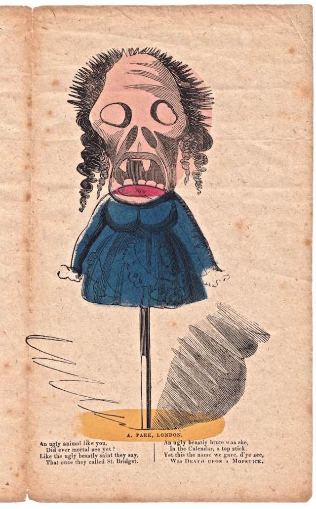 A 19th-century vinegar valentine (collection of Mike Henbrey, via Spitalfields Life/Bishopsgate Institute)