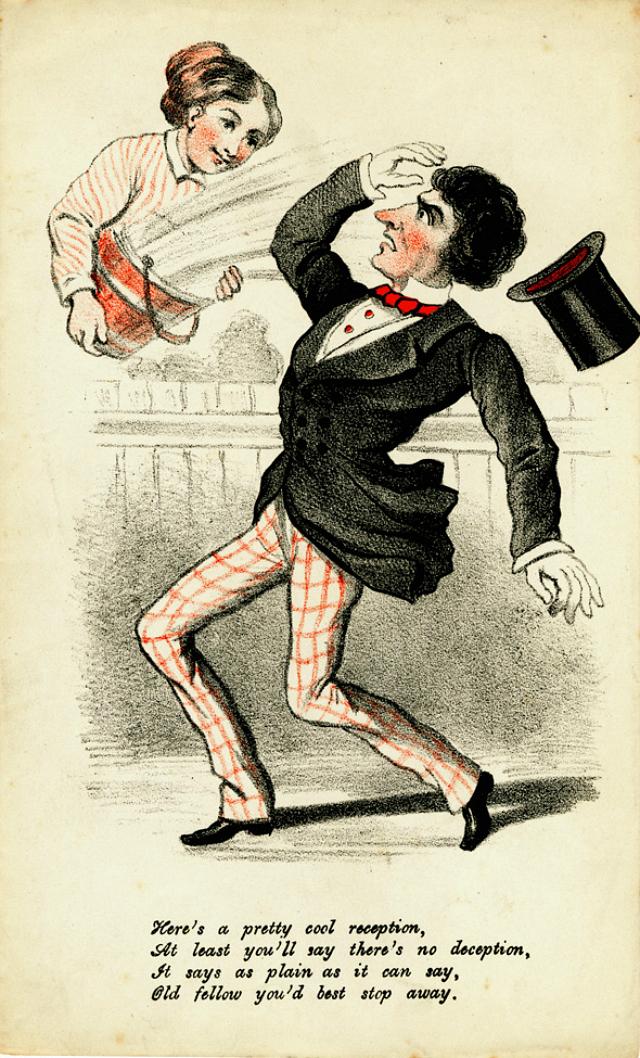 19th-century vinegar valentine (via Lilly Library, Indiana University)