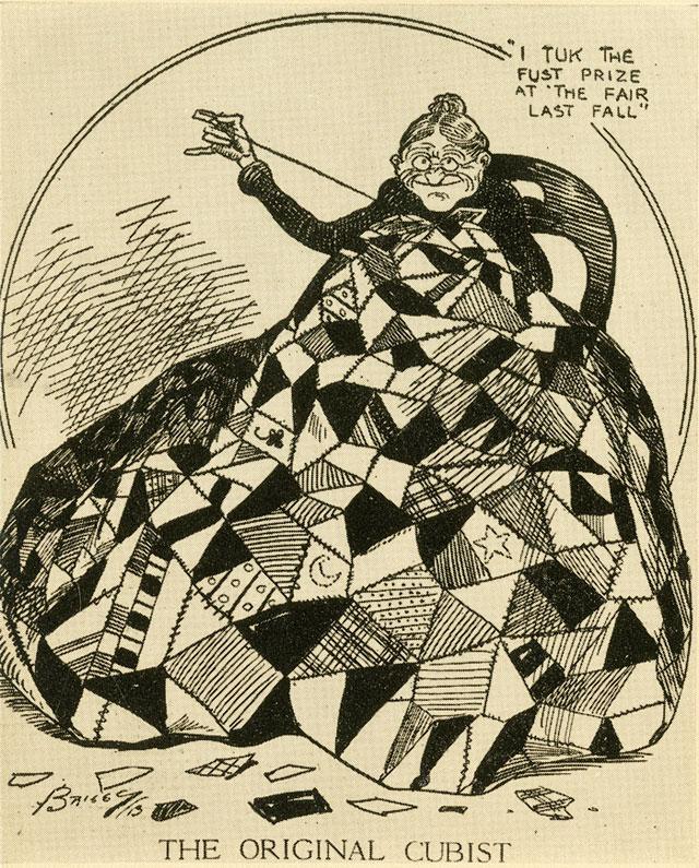 "Clare Briggs (1875–1930), ""The Original Cubist,"" New York Evening Sun, April 1, 1913 (image via armory.nyhistory.org)"