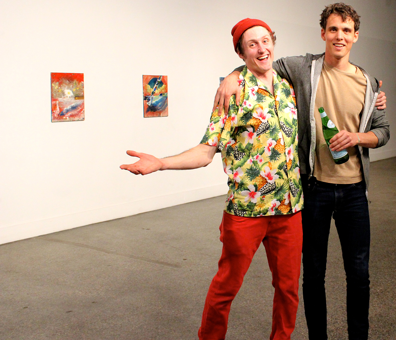 Henry Crissman and Hamilton Poe at the opening of 'Self-Titled 2' at Trinosophes (click to enlarge)