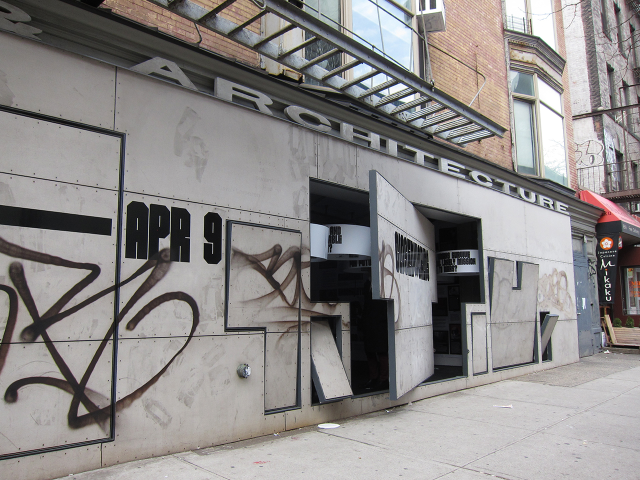 'Closed Worlds' at Storefront for Art and Architecture (photo by the author for Hyperallergic)