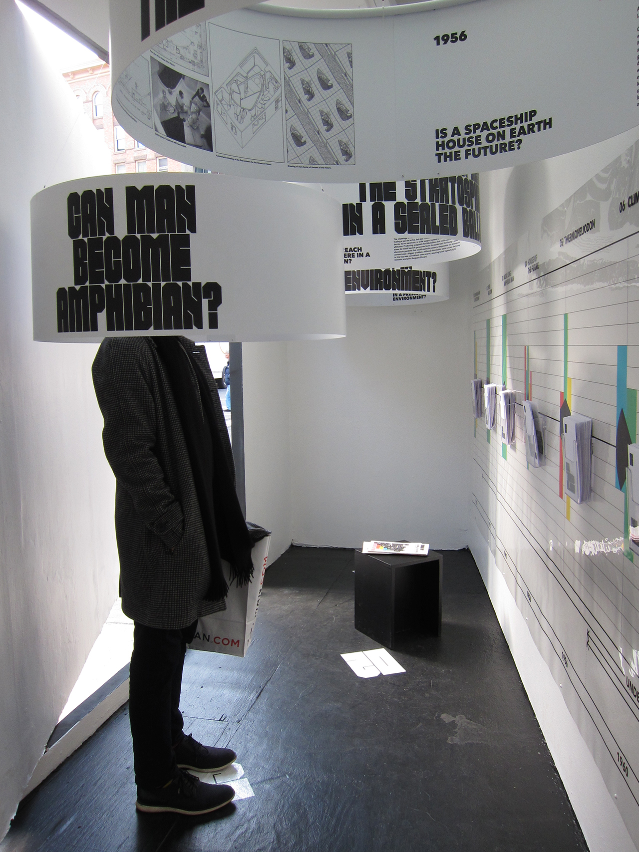 Installation view of 'Closed Worlds' at Storefront for Art and Architecture (photo by the author for Hyperallergic) (click to enlarge)