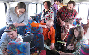 Post image for A Biennial on a Bus Examines the Leisure and Labor of Travel