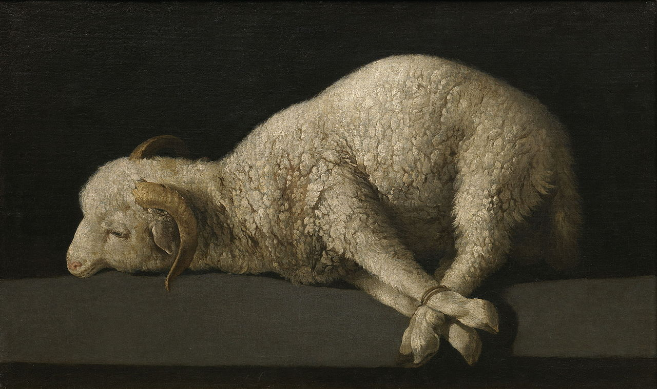 "Francisco de Zurbarán, ""Agnus Dei"" (""The Lamb of God,"" 1635–40) (Museo del Prado, Madrid; via Wikimedia Commons)"
