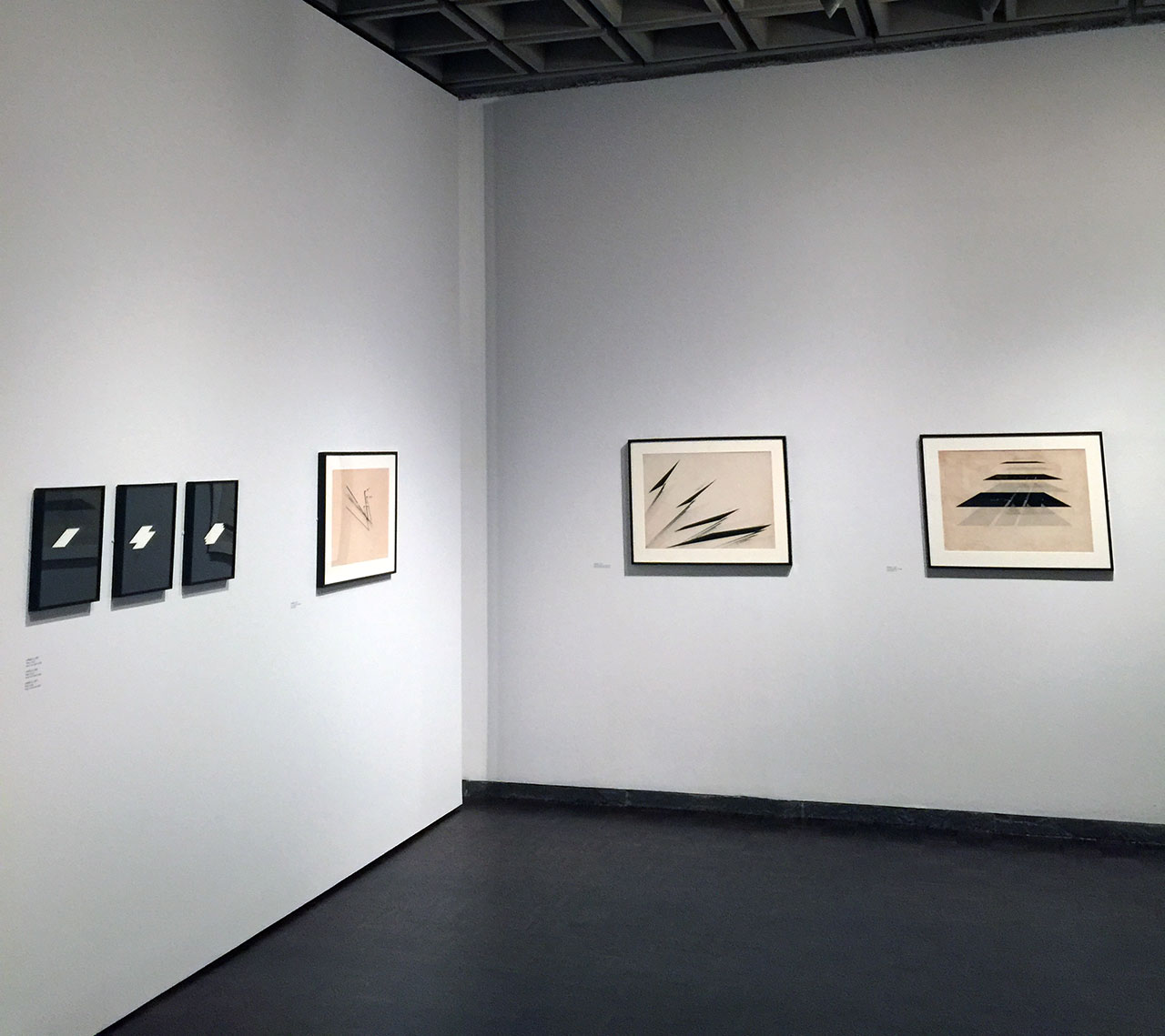 A view of the Nasreen Mohamedi exhibition at the Met Breuer