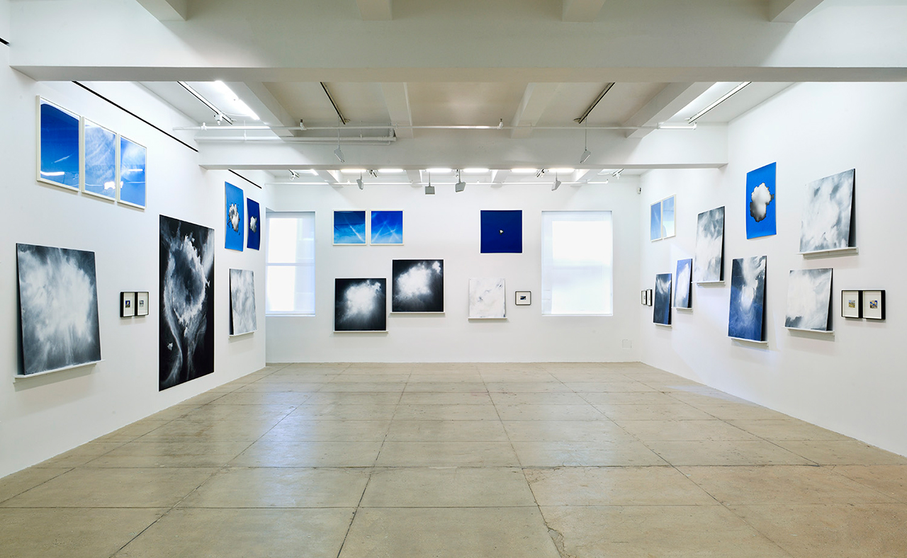 Installation view, Tacita Dean, 'A Concordance of Fifty American Clouds' (2015–16) (click to enlarge)