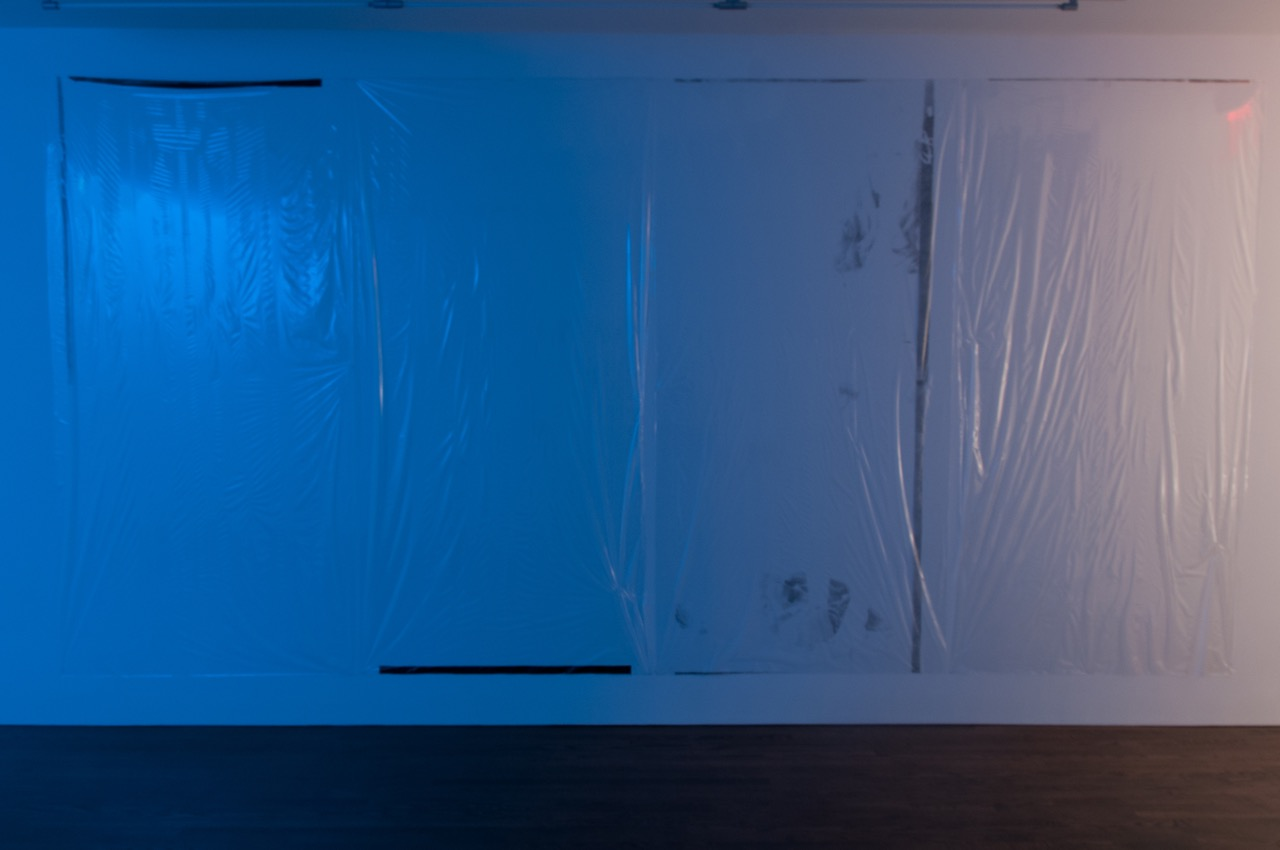 Hilton Als, Candy, 2016, 194 x 96 inches, screen print on cellophane