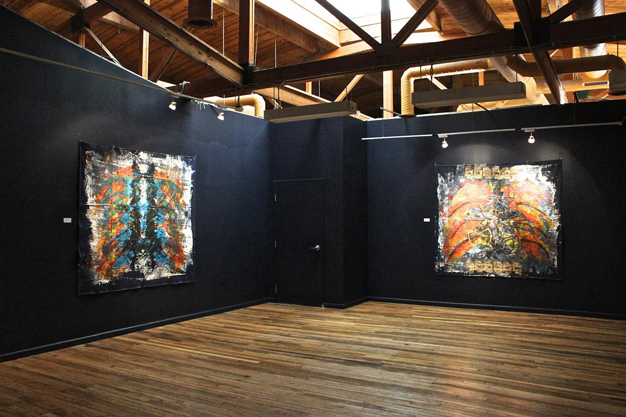 Installation view of Saffell Gardner's 'Cosmic Spirits'