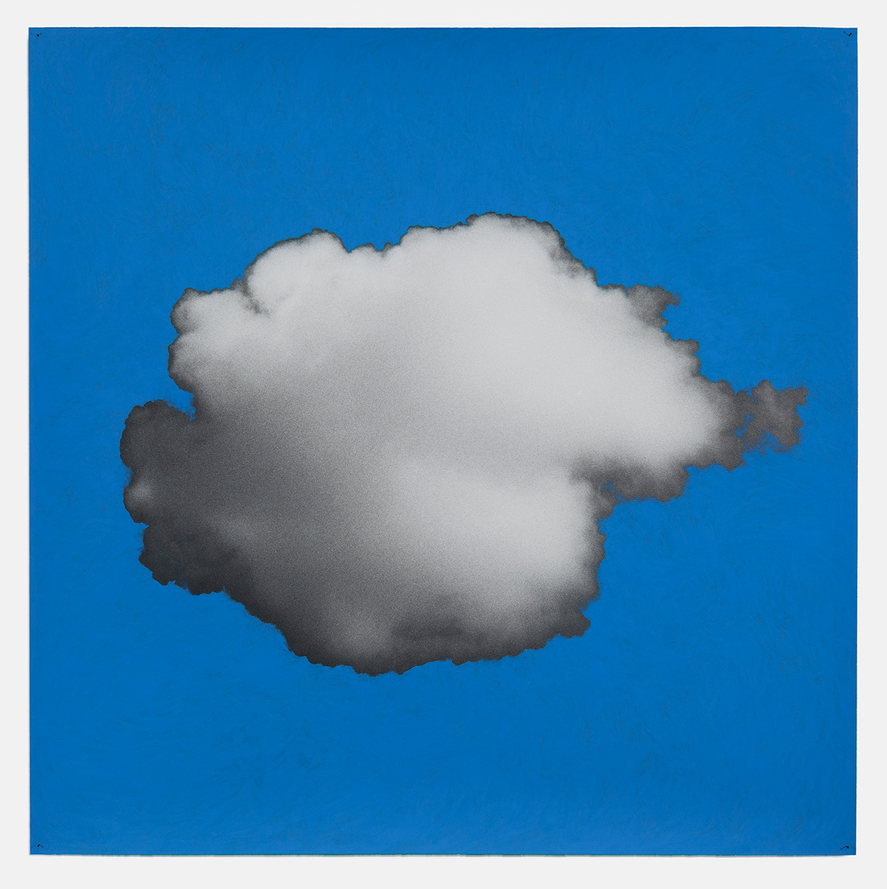 """Tacita Dean, """"Sean's Cloud"""" (2016), chalkboard paint on hand-printed silver gelatin photograph mounted on paper, 39 5/16 x 39 5/16 in (all images courtesy Marian Goodman Gallery)"""
