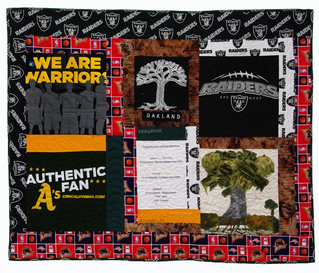 Professional Oakland Teams by Ernestina Tril_37x45_Cotton Quilt